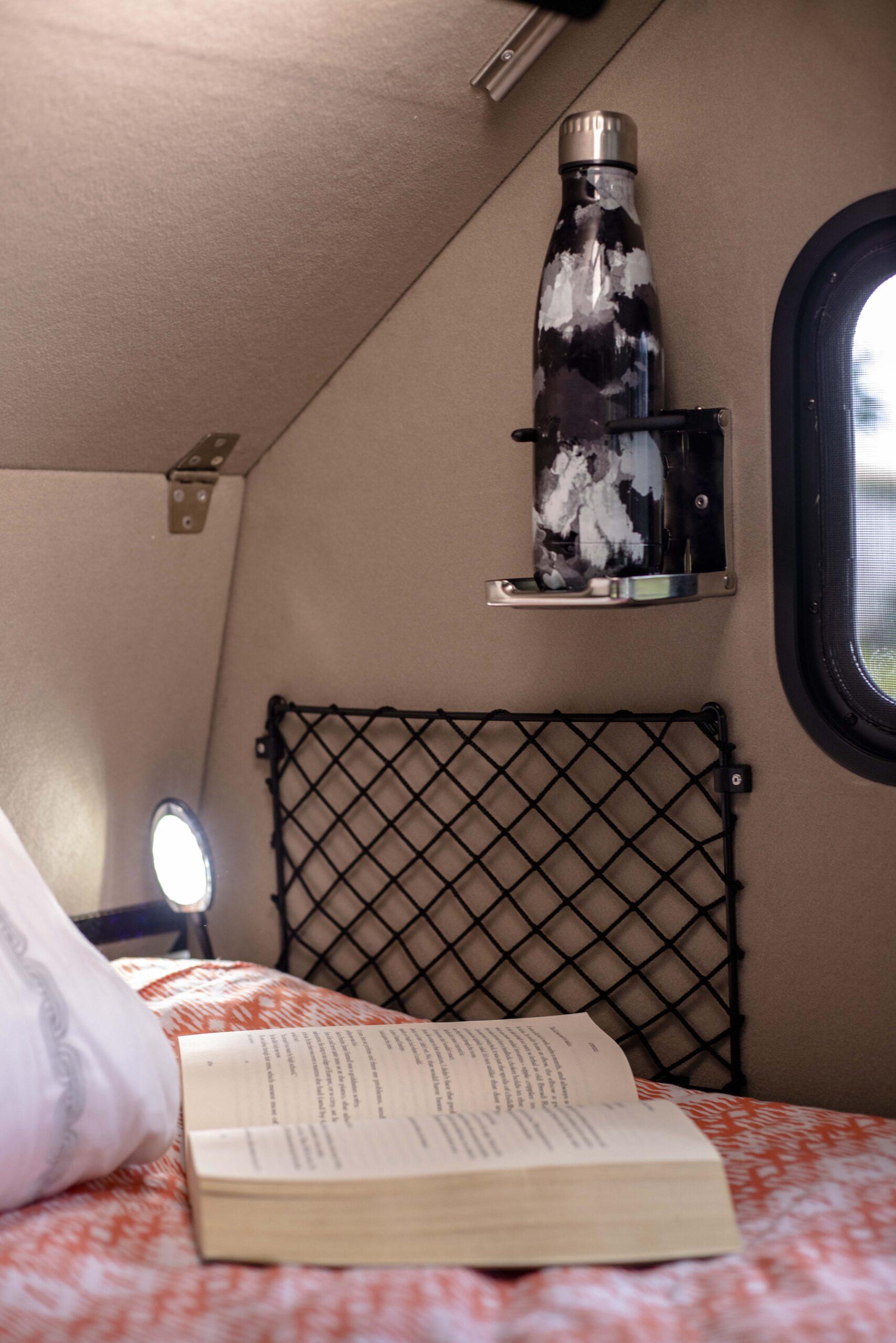 Kimberley Karavan bed reading light cup holder magazine holder