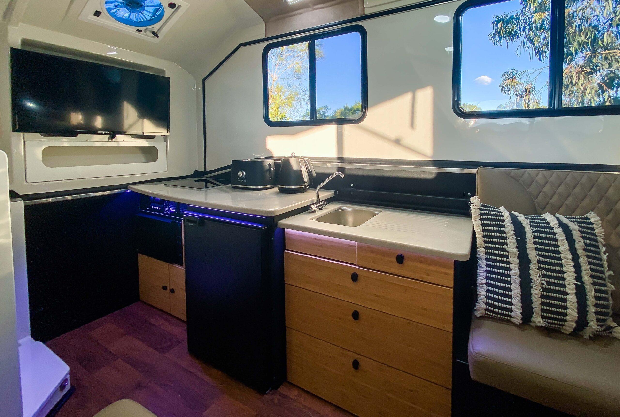 Kimberley Karavan inside galley kitchen-1