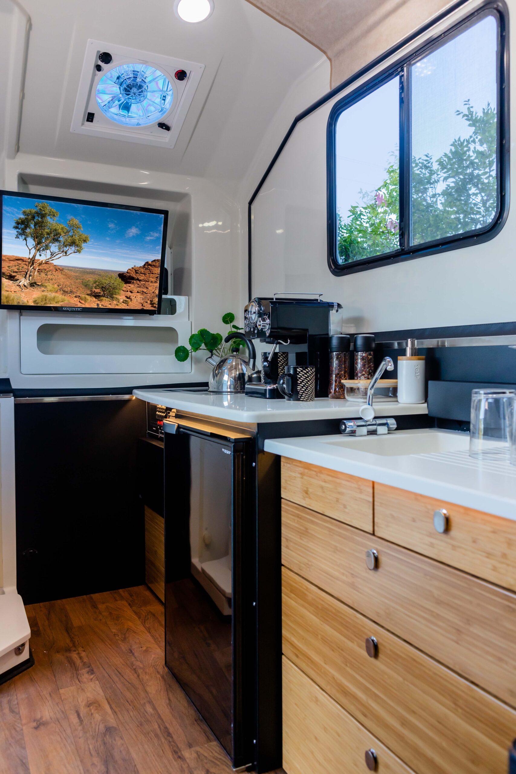 Kimberley Karavan interior kitchen-1