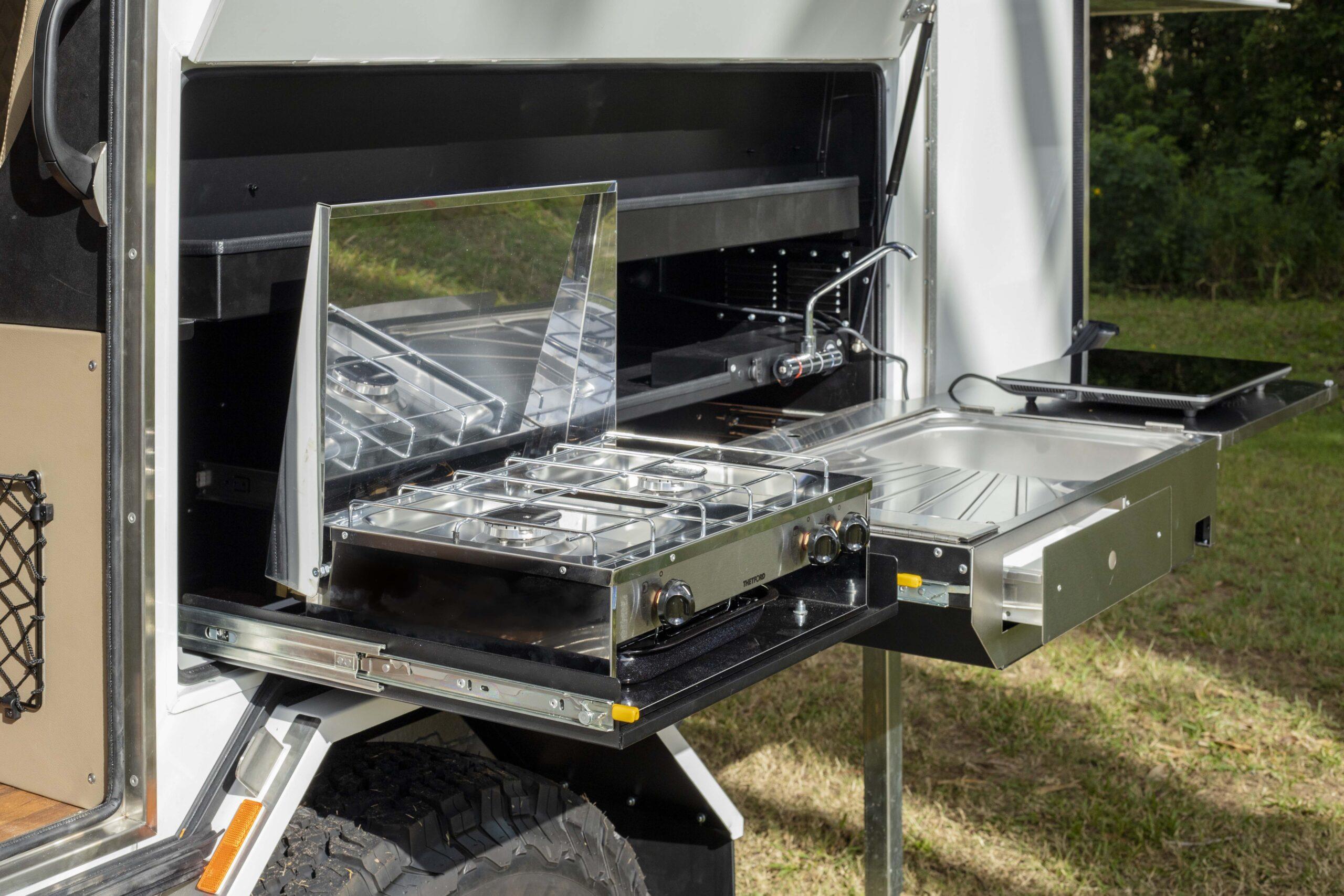 Kimberley Karavan outdoor kitchen dual burner