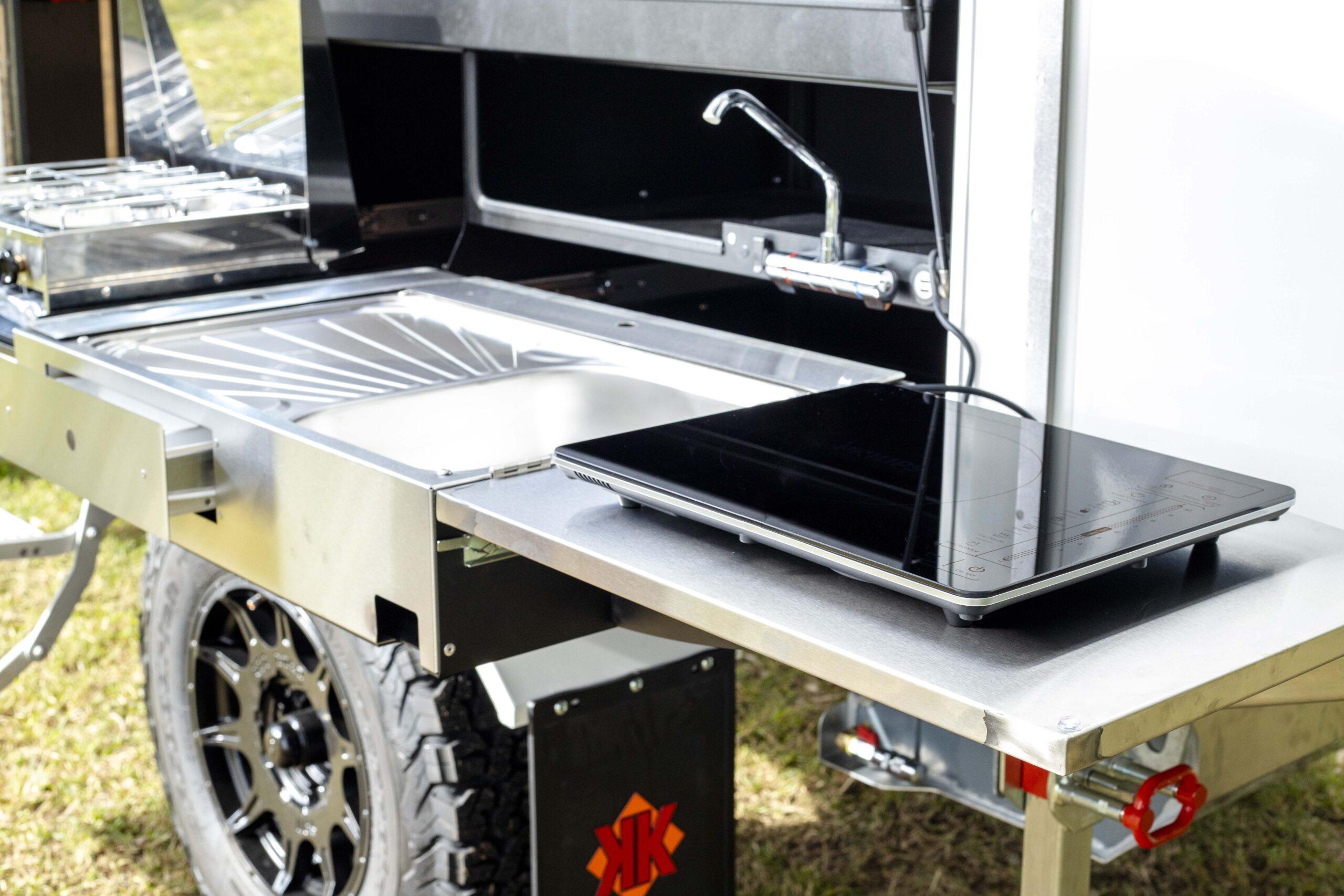 Kimberley Karavan outdoor kitchen portable induction