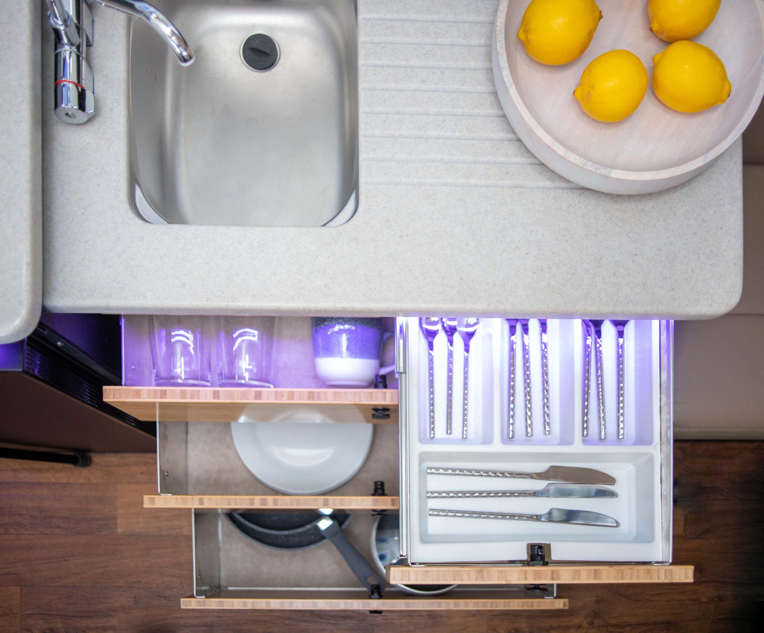 Kimberley Karavan sink and drawers-1