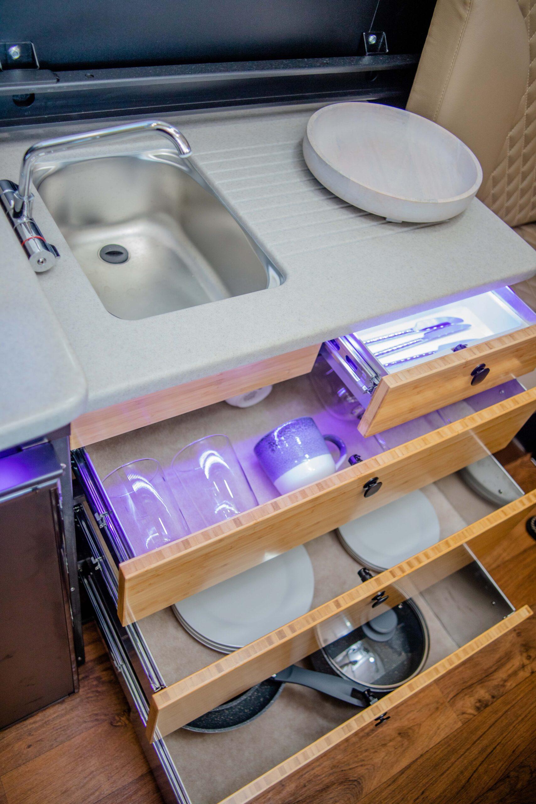 Kimberley Karavan sink and drawers