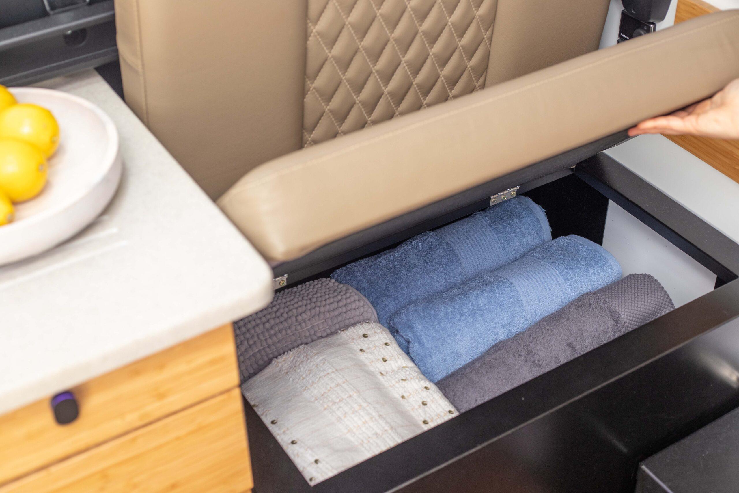 Kimberley Karavan small under seat storage