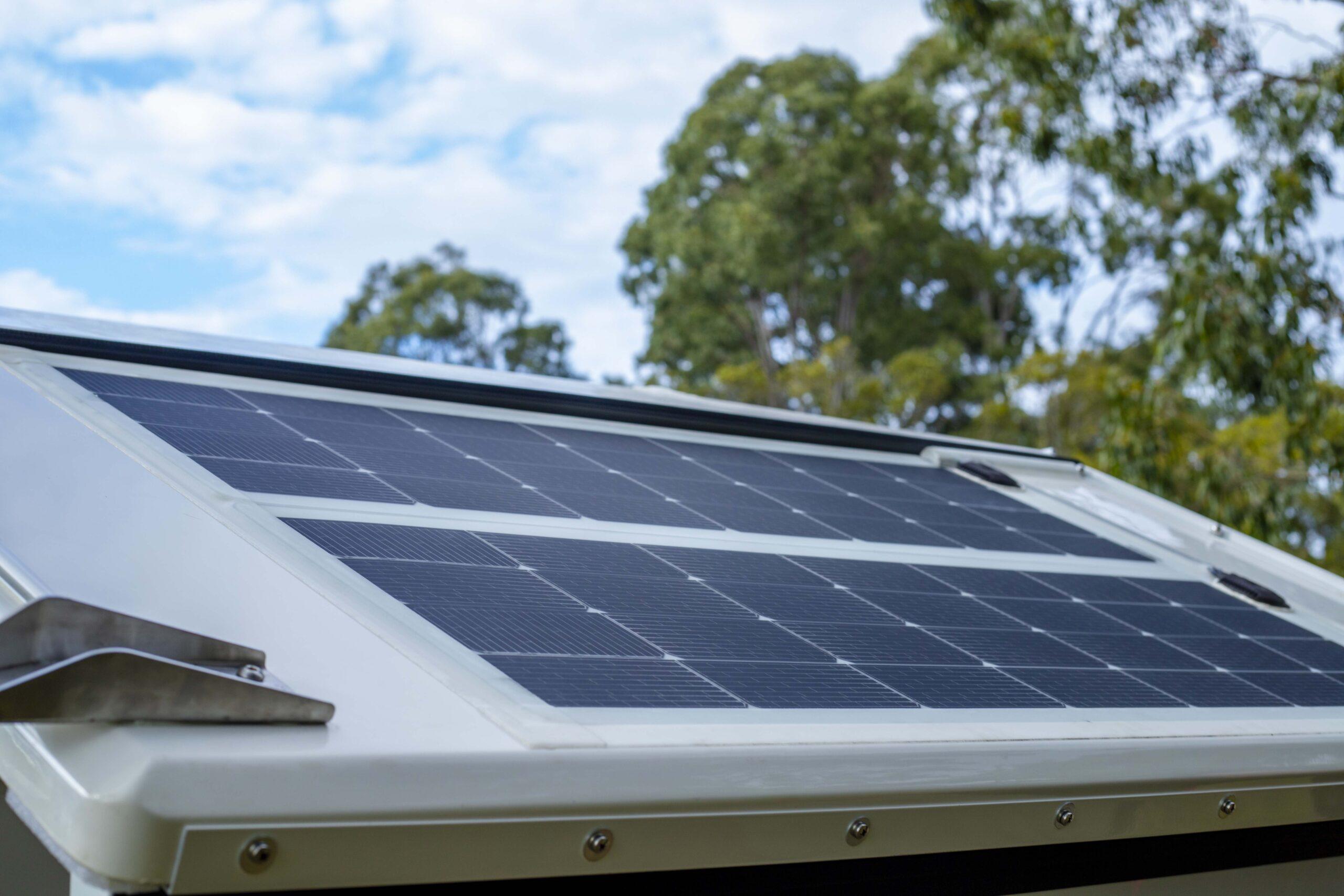 Kimberley Karavan solar lobster tail Merlin Solar