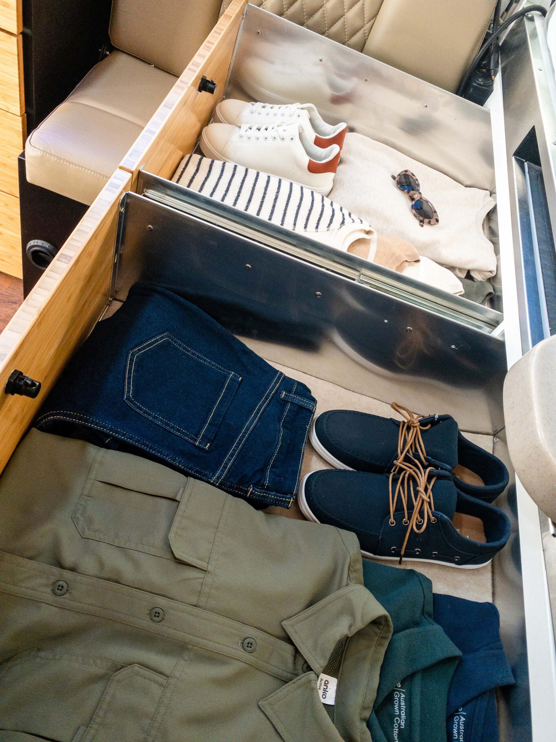 Kimberley Karavan under bed storage drawers