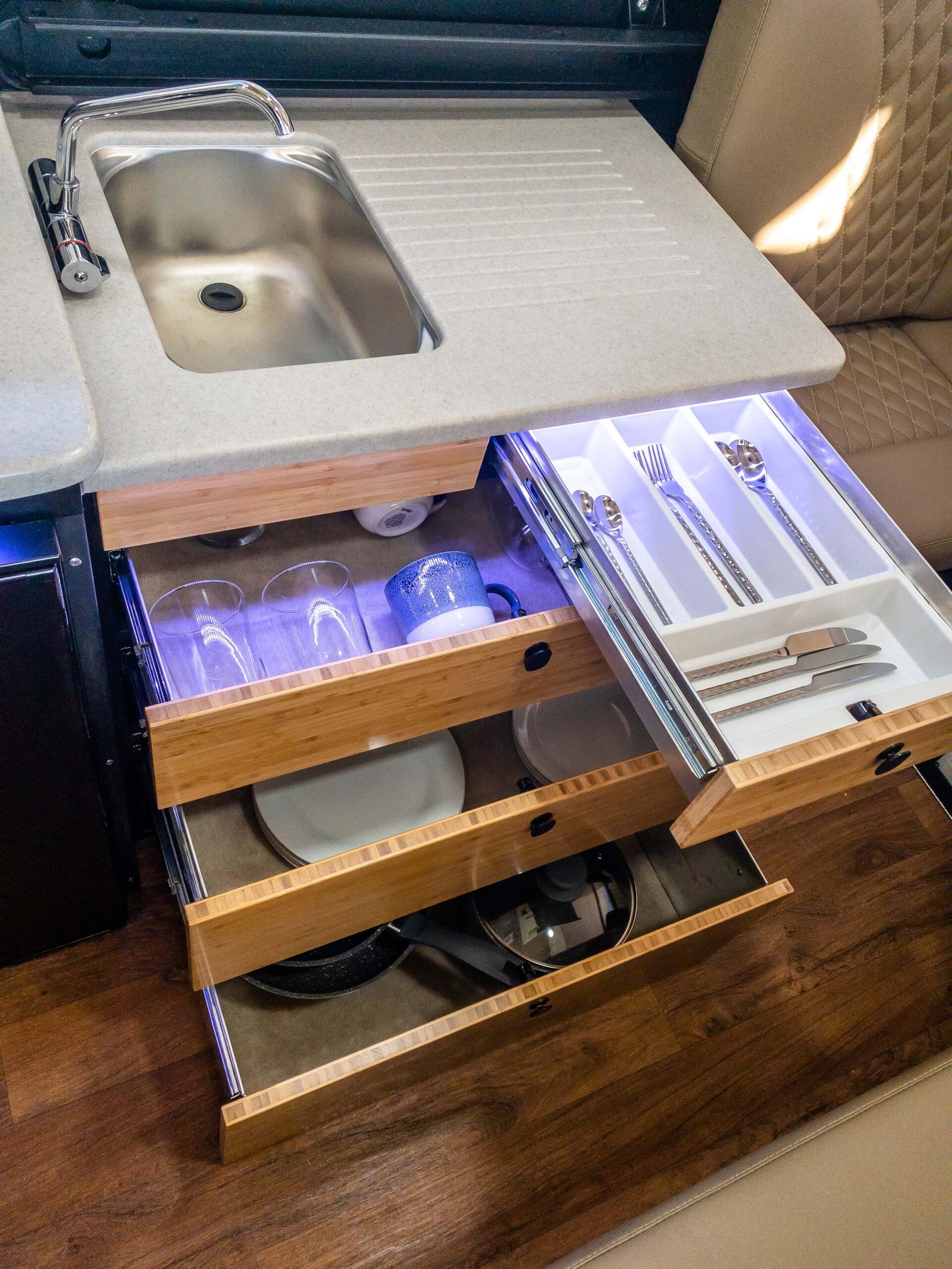 Kimberley Karavan under sink storage drawers-1